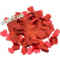 Конфетти Сердечки Red 0,1кг ( 4х4 см )