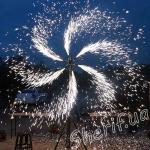 Снежинка на 6 фонтанов с вращением-4