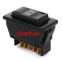 Кнопка стеклоподъемника Audew Universal 5 Pins Car Power Window Control ON/OFF SPST Rocker Switch Master 12V