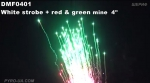 "DMF0401 White strobe + red & green mine 4""(100мм)"