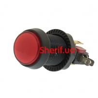 Переключатель кнопочный; 1; SPDT; 10A/250ВAC; красный