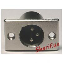 Штекер на корпус HY1.4823 XLR 3-pin male-2