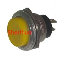 Кнопка DS-212 без фиксации OFF-(ON), желтая