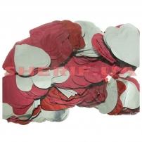 Конфетти Сердечки Red/Silver Heart (цв.красный/серебро, 4x4см) 0,1кг