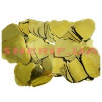 Конфетти Сердечко Gold Heart (цв.золото, 4x4см) 0,1кг
