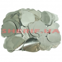 Конфетти Сердечки Silver Heart (цв.серебро, 4x4см) 0,1кг