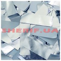 Конфетти (метафан) Silver/White бумага, 1 кг