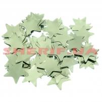 Конфетти Silver Star Звезда (цв.серебро, metall, 3x3см) 0,1кг