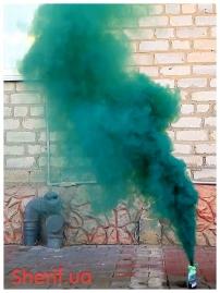 Дымный факел Зеленый 35сек-3