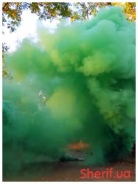 Дымный факел Зеленый 60сек DUPLEX-2