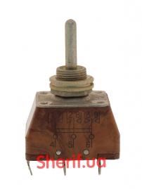 Тумблер двухполюсный ПТ3-30В-3