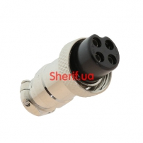 Разъем MIC 324 F крепление на кабель, 4 контакта
