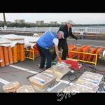 Подготовка к фейерверку ко Дню победы в Днепропетровске