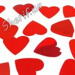 Конфетти Красные сердца, (1 кг)