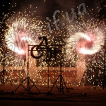 Два огненных колеса по два форсовых фонтана 2