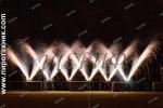 Наземный фейерверк решетка из форсовых фонтанов
