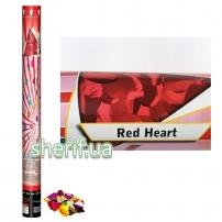 CM060  Пневмохлопавки (Сердечка Червоні фольговані ) 60 см