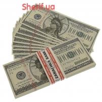 Сувенирная пачка денег по 1000000 долларов PPN-4079