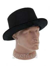 Шляпа Цилиндр велюровый черный