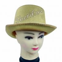 Шляпа цилиндр (золотая)