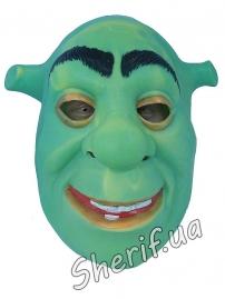 Карнавальная маска Шрек резиновая