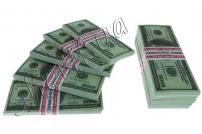 Сувенирная пачка купюр по 100 долларов