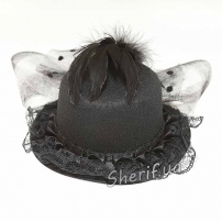 Шляпка Гламур маленькая с розой в ассортименте