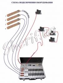 44-канальный пульт для запуска фейерверков