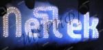Контурная свеча синяя