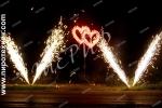 Сердце двойное с фонтанами (среднее)