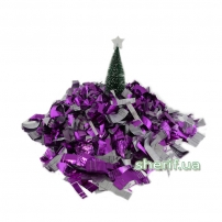 "Конфетти-метафан MIX (Purpler""violets""/silver) 1кг."